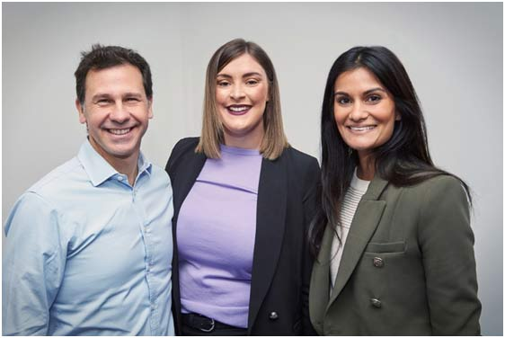 Zenitas Healthcare CEO, Rob De Luca, with ACARES Chief Operations Officer, Jessica Bickers, and ACARES Strategy & Communications Manager, Tatum Steers